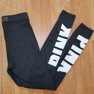 PINK | Dark Gray Leggings | SZ S